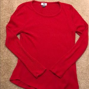 Old navy Red long sleeve ribbed shirt